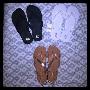 3 sandals for 1 price!!